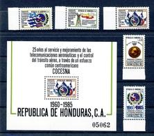 Honduras MiNr. 1040-44 + Block 38 Postfrisch MNH Luftfahrt (FZ566 - Honduras