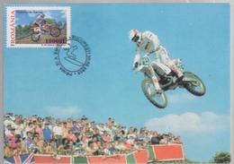MOTO  Motorcycle Racing MAXIMUM CARD ROMANIA 2003 , SPECIAL CANCEL FDC - Moto