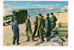 CP Débarquement En Normandie 14 Juin 1944 Le Général De Gaulle Libérateur Foule Le Sol De France- (réf A0208) - Guerre 1939-45