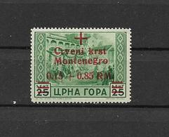 GERMANIA REICH 1944 OCCUPAZIONE TEDESCA DEL MONTENEGRO SOPRASTAMPATO SASS. 21 MNH XF - Altri