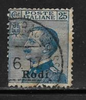 Italy Aegean Islands Rhodes Scott # 7 Used Italy Stamp Overprinted, 1912 - Aegean (Rodi)