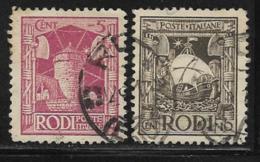 Italy Aegean Islands Rhodes Scott # 15-6 Used Windmill, Ship, 1929 - Aegean (Rodi)