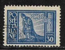 Italy Aegean Islands Rhodes Scott # 19 Used Praying Crusader, 1929 - Aegean (Rodi)