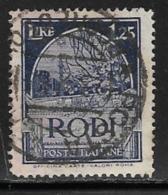 Italy Aegean Islands Rhodes Scott # 21 Used Crusader's Tomb, 1929 - Aegean (Rodi)