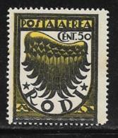 Italy Aegean Islands Rhodes Scott # C1 MNH Symbol Of Flight, 1937-8 - Aegean (Rodi)