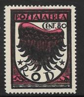 Italy Aegean Islands Rhodes Scott # C2a Mint Hinged Symbol Of Flight, 1937-8 - Aegean (Rodi)