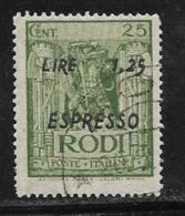 Italy Aegean Islands Rhodes Scott # E3 Used Knight Surcharged,1943 - Aegean (Rodi)