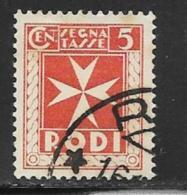 Italy Aegean Islands Rhodes Scott # J1 Used Postage Due, 1934 - Aegean (Rodi)