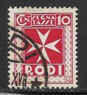 Italy Aegean Islands Rhodes Scott # J2 Used Postage Due, 1934, Thin - Aegean (Rodi)