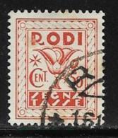 Italy Aegean Islands Rhodes Scott # J6 Used Postage Due, 1934 - Aegean (Rodi)