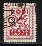 Italy Aegean Islands Rhodes Scott # J7 Used Postage Due, 1934, Tiny Thin - Aegean (Rodi)