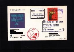 Bolivia 1974 Lufthansa Flight  LH 489 La Paz - Koeln - Bolivia