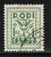 Italy Aegean Islands Rhodes Scott # J8 Used Postage Due, 1934 - Aegean (Rodi)