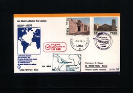 Peru 1974 Lufthansa Flight  LH 489 Lima - Koeln - Peru