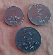 LSJP BRAZIL THREE COINS CRUZEIRO 1969 - Brasil
