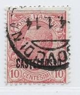Castellorizo Scott # 52 Used Italy Stamp Overprinted, 1922 - Castelrosso