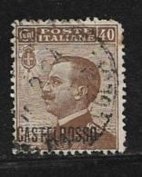 Castellorizo Scott # 56 Used Italy Stamp Overprinted, 1922, Round Corner - Castelrosso