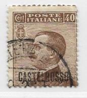 Castellorizo Scott # 56 Used Italy Stamp Overprinted, 1922 - Castelrosso