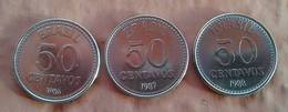 LSJP BRAZIL THREE COINS 50 CENTS CRUZADOS 1986/1987/1988 - Brasil