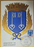 O) 1966 FRANCE, COAT OF ARMS MONT DE MARSAN, MAXIMUM CARD XF - 1960-69