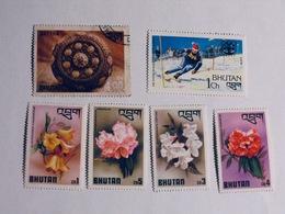 BHOUTAN  1976-79   LOT# 5  FLOWERS - Bhoutan