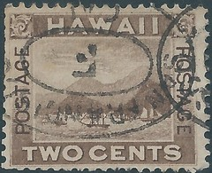 Hawaii 1894 TWO CENTS , Used - Hawaii