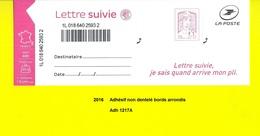 Adhésif De 2016 Neuf**  Y&T N° 1217A Non Dentelé Bords Arrondis Pour Lettre Suivie 20gr - Adhesive Stamps