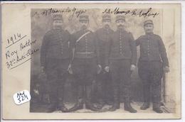 CARTE-PHOTO- CEZY ?- MILITAIRES DU 32 EME RA- 1914- M ROY ARTHUR DE CEZY ET UN COPAIN DE VILLENEUVE LA GUYARDE - Cartes Postales