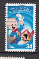 USA, Disney, Cochon, Pig, Porc, Pork, Facteur, Mailman, Boîte Aux Lettres, Mailbox, Comics, Bande Dessinée, - Disney