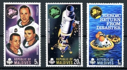 Malediven MiNr. 367-69 Postfrisch MNH Raumfahrt Apollo 13 (RF180 - Malediven (1965-...)