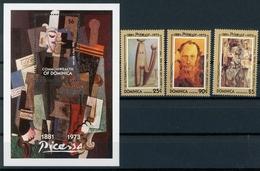 Dominica MiNr. 1711-13 + Bl 240 Postfrisch MNH Kunst Picasso (Ku239 - Dominica (1978-...)