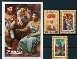 Grenada MiNr. 2564-66 + Bl 335 Postfrisch MNH Kunst Picasso (Ku344 - Grenada (1974-...)