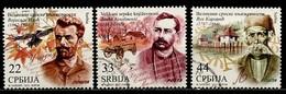 Serbie - Serbia - Serbien 2012 Y&T N°464 à 466 - Michel N°471 à 473 (o) - Série écrivains Serbes - Serbie