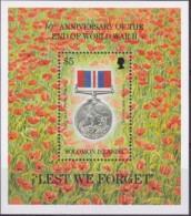 Solomon Islands 1995 War Medal Sc 803 Mint Never Hinged - Salomon (Iles 1978-...)