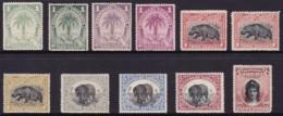 Liberia 1897-1905 Sc 54-63 Mint Hinged (2 Stamps No Gum) - Liberia