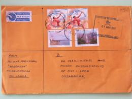 Sri Lanka (Ceylan) 2017 Cover To Nicaragua - Sport Volley Ball Landscapes Waterfall Lighthouse - Christmas On Back - Sri Lanka (Ceylan) (1948-...)