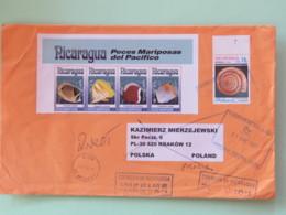 Nicaragua 2018 Cover To Poland - Return Bad Adress - Fishes Shell - Nicaragua