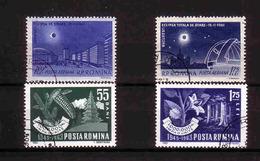 439a * RUMÄNIEN * 4 DIVERSE U.a. SONNENFINSTERNIS * GESTEMPELT **!! - 1948-.... Republiken