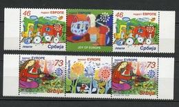 Serbie - Serbia - Serbien 2006 Y&T N°151 à 152 - Michel N°150 à 151 *** - Série  Joie De L'Europe Avec Vignette - Serbie