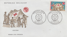 Enveloppe  FDC  1er  Jour   MADAGASCAR    SCOUTISME     1974 - Non Classés