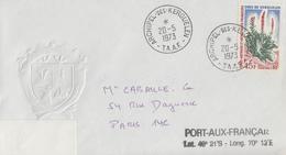 Enveloppe   T.A.A.F    Oblitération    ARCHIPEL  DES  KERGUELEN    1973 - Terres Australes Et Antarctiques Françaises (TAAF)