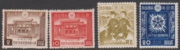 Japan SG387-390 1942 10th Anniversary Of Establishment Of Manchukuo, Mint Hinged - Unused Stamps