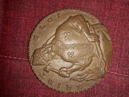 Magnifique  Medaille En Bronze Saint Eloi Chambre Syndicale Entreprise D'instalations Thermiques  Diametre 6 Cm - Sculptures