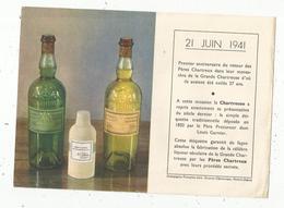 Publicité , 1 Er Anniversaire Du Retour Des Pères Chartreux Au Monastére ,1941 ,alcool , CHARTREUSE , Frais Fr 1.45 E - Publicités