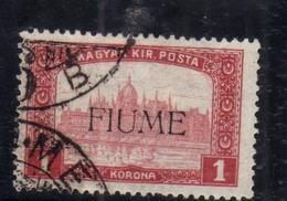 FIUME 1916 - 1917 MIETITORI E VEDUTA REAPERS AND VIEW 1 K USATO USED OBLITERE' - 8. Occupazione 1a Guerra