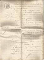 Manuscrit, 1827 ,acte Notarié Royal Avallon, Yonne, Bail à Cheptel, Quarré Les Tombes,8 Pages ,3 Scans, Frais Fr 2.95 E - Manuscrits