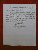 BILLET AUTOGRAPHE CHEVILLARD CURE DE SARCELLES FUNERAILLES SAINT JOHN DE CRÈVECOEUR BEAU PERE DU COMTE OTTO 1813 - Autographs