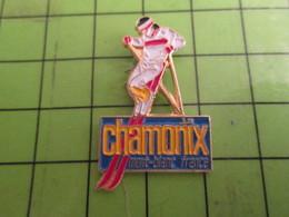1515B Pin's Pins /  Rare & De Belle Qualité : THEME SPORTS : SKI SKIEUR CHAMONIX MONT-BLANC - Winter Sports