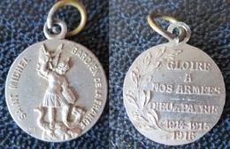 MEDAILLE RELIGIEUSE SAINT MICHEL Gardien De La France 1914 -1915-1916 - Militaria