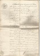 Manuscrit, 1828 ,acte Notarié Royal Avallon, Yonne, Obligation, Quarré Les Tombes,5 Pages,4 Scans, Frais Fr 2.95 E - Manuscrits
